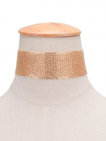 Retro Sequins Copper Choker Necklace