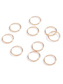 10 PCS Circle Adorn Hair Accessories - Golden