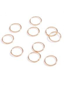 10 قطع دائرة تزين اكسسوارات للشعر - ذهبي