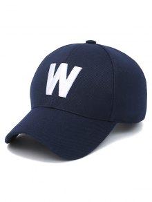 حرف W قبعة بيسبول - الأرجواني الأزرق