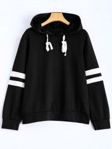 Stripes Pullover Hooded Sweatshirt