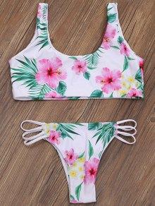 Zip Front Closure Floral Bikini Set