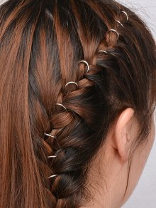 10 PCS Circle Adorn Hair Accessories - Silver