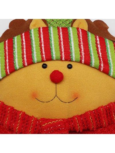 Merry Christmas Reindeer Star Pillow - YELLOW  Mobile