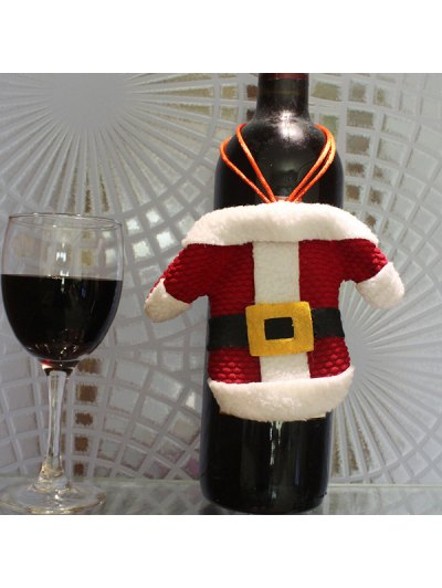 Christmas Santa Clothes Shape Tableware Holder Bag - RED WITH WHITE  Mobile