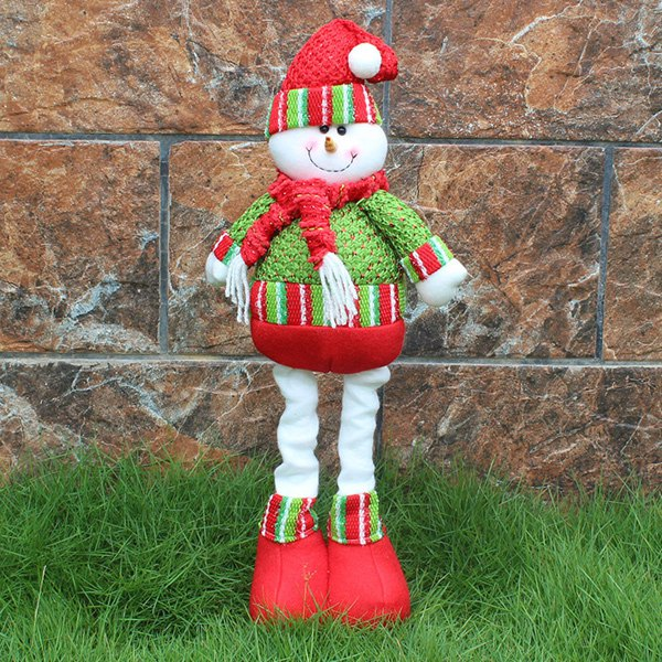 Christmas Party Decorative Stretched Snowman Puppet ToyAccessories<br><br><br>Color: RED AND GREEN