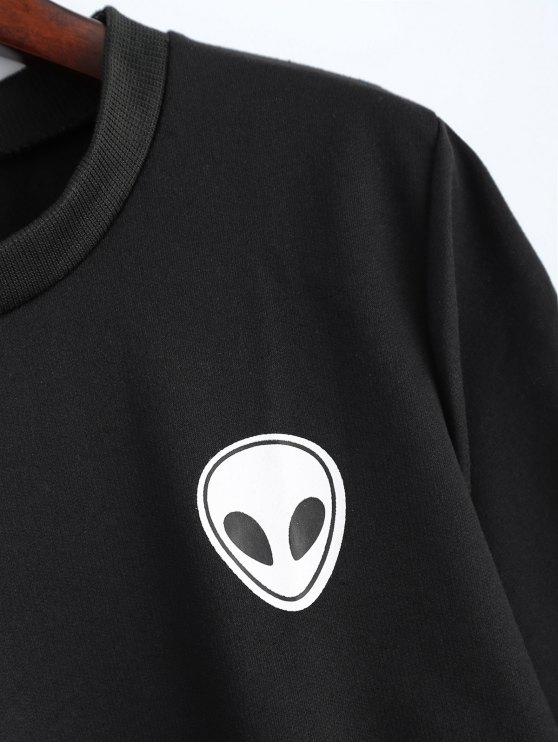 Fitting Skull Sweatshirt - BLACK XL Mobile