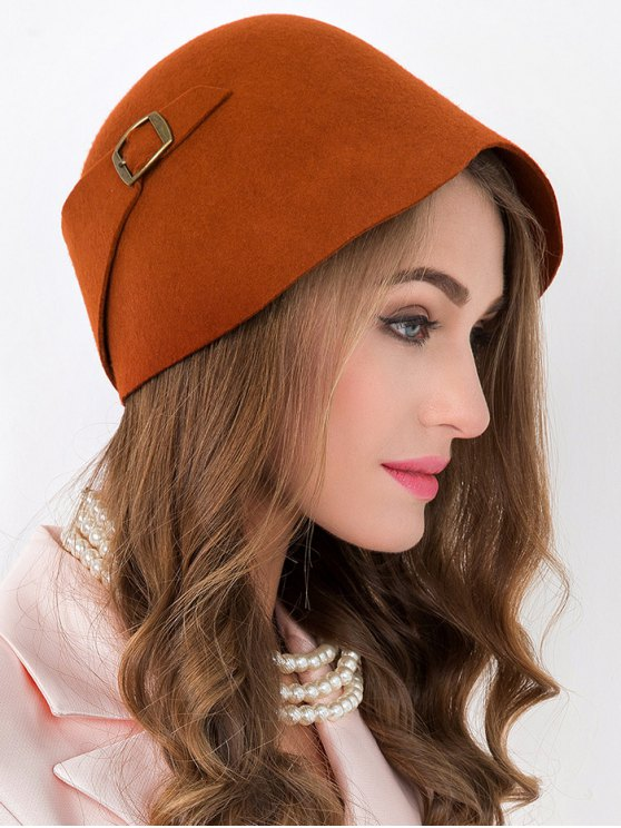 trendy Winter Wool Bowler Cloche Hat - JACINTH