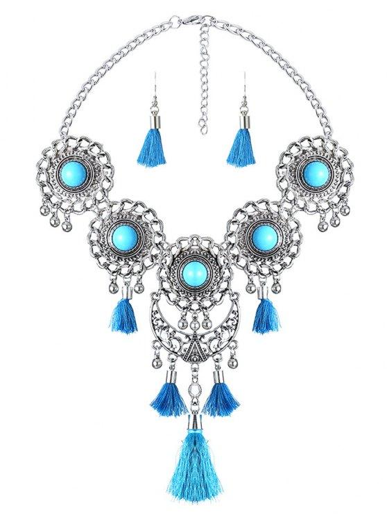 Medallón del collar con flecos - Lago Azul