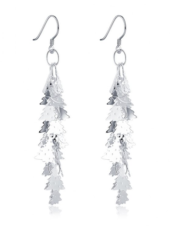 hot Adorn Christmas Tree Drop Earrings - SILVER