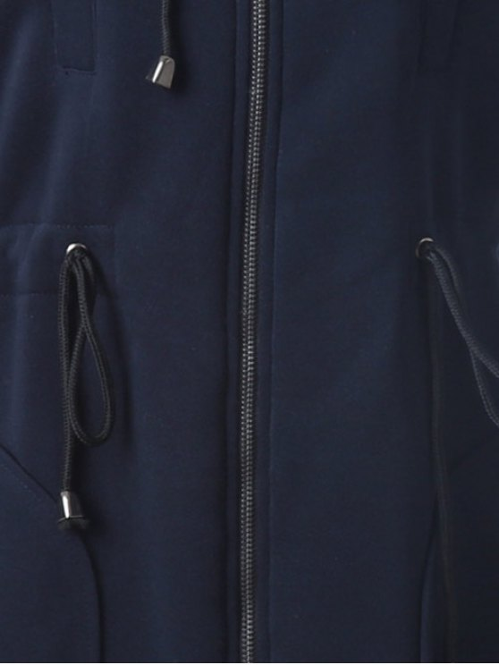 Long Zip Up Hoodie - CADETBLUE 2XL Mobile