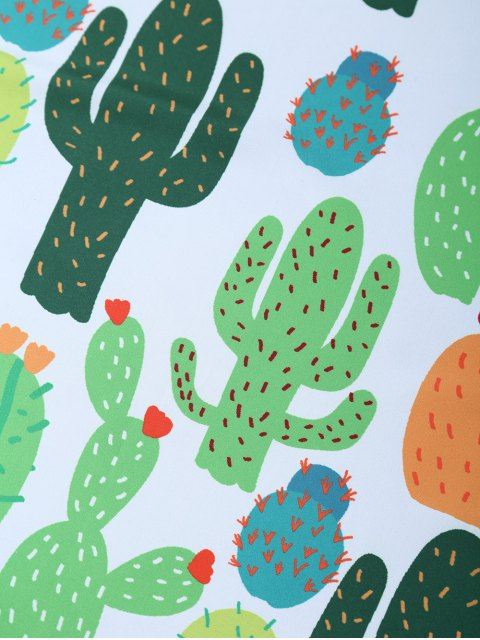 latest Cactus Handkerchief Scarf - WHITE  Mobile