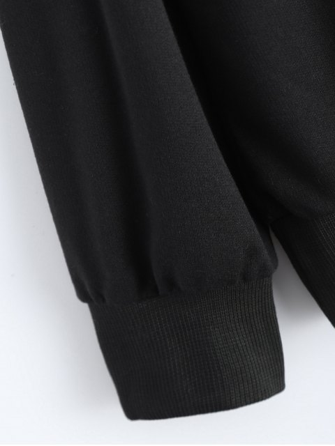 fancy Fitting Skull Sweatshirt - BLACK XL Mobile