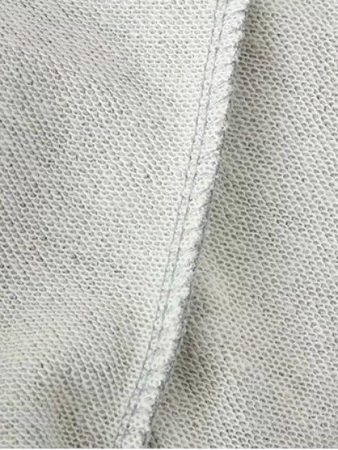 fancy Sequins Raglan Sleeve Sweatshirt - BLACK S Mobile