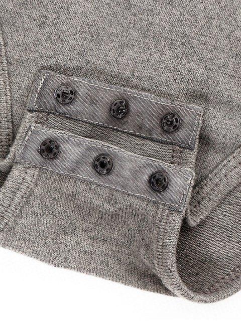shop Gloved Sleeve Turtle Neck Bodysuit - BLACK L Mobile