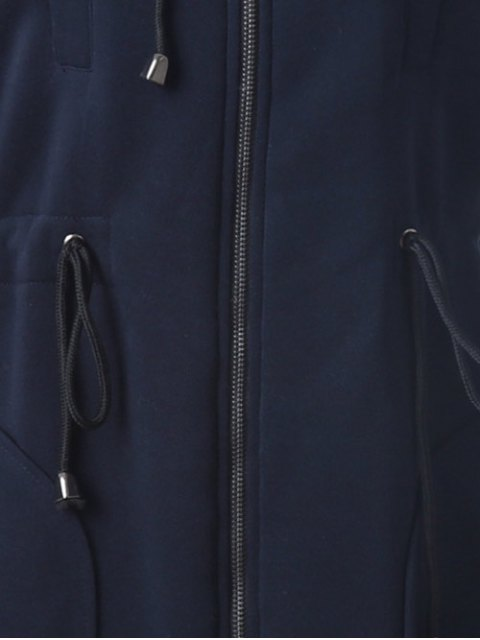 hot Long Zip Up Hoodie - CADETBLUE XL Mobile