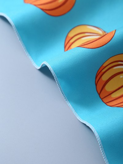 Halloween Pumpkins Handkerchief Scarf - LIGHT BLUE  Mobile
