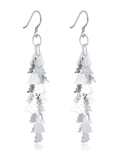 Adorn Christmas Tree Drop Earrings - Silver