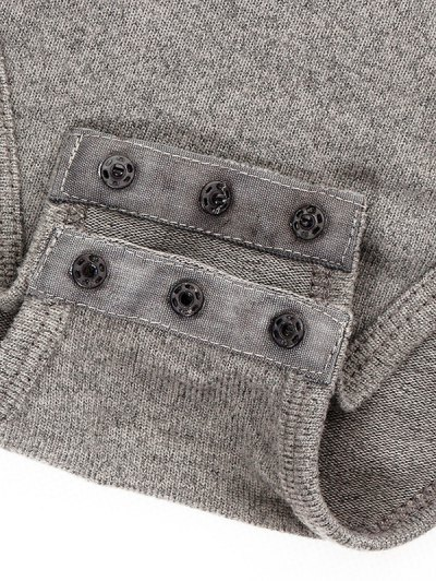 Gloved Sleeve Turtle Neck Bodysuit - GRAY S Mobile