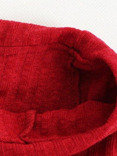 Foldover Off The Shoulder Jumper - RED L Mobile