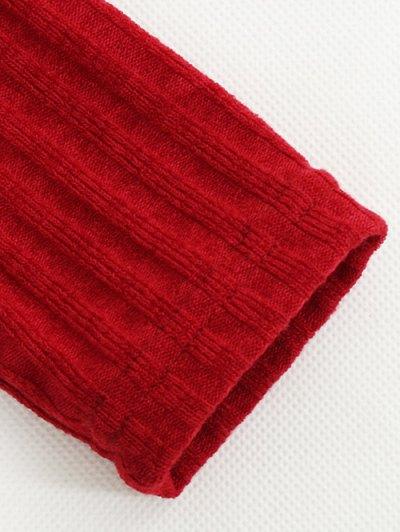 Foldover Off The Shoulder Jumper - RED M Mobile