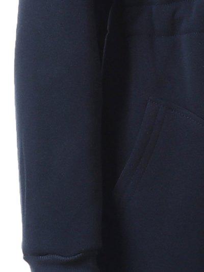 Long Zip Up Hoodie - CADETBLUE XL Mobile
