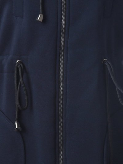 Long Zip Up Hoodie - CADETBLUE S Mobile