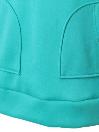 Zipper Embellished Drawstring Hoodie - OASIS 2XL Mobile