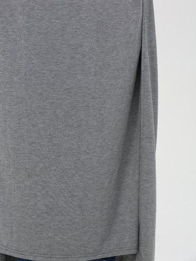 Plus Size High Slit Maxi Dress - GRAY 4XL Mobile
