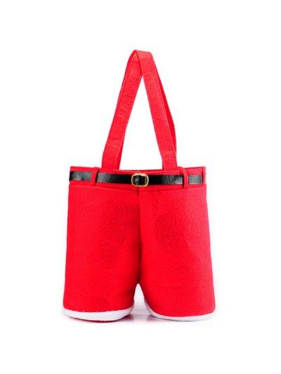 Christmas Santa Pants Red Wine Bag - RED  Mobile