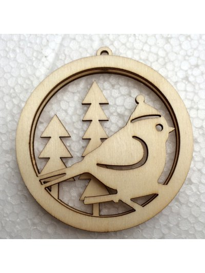 Christmas Tree Hollow Out Hanging Pendants Decoration - WOOD  Mobile