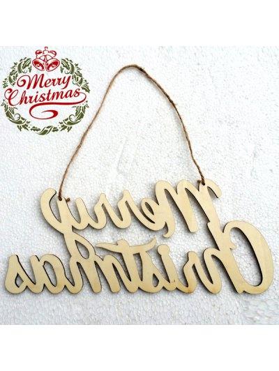 Christmas Letter Hanging Pendants Party Decoration - WOOD  Mobile