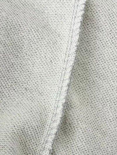 Sequins Raglan Sleeve Sweatshirt - GRAY L Mobile