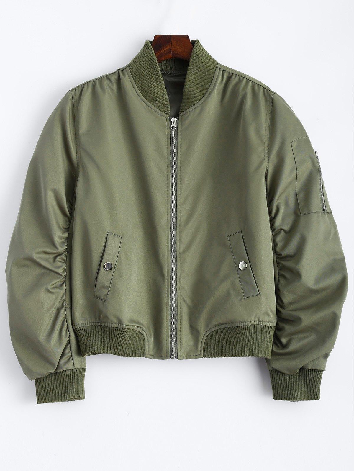 Zippered Bomber Jacket