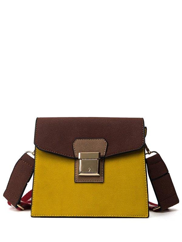 Colour Spliced Metal Crossbody Bag