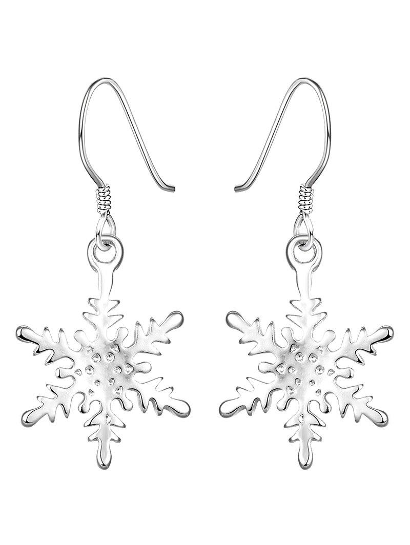 Rhinestone Snowflake Christmas Drop Earrings