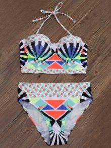Geometric Print Underwire Bikini