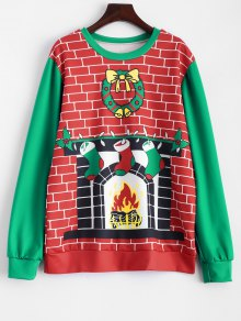 Christmas Fireplace Sweatshirt