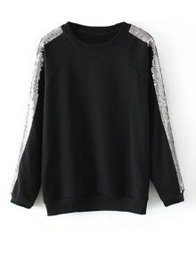 Sequins Raglan Sleeve Sweatshirt