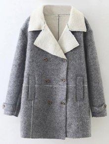 Double Breasted Fleece Lined Coat