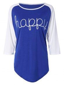 Color Block Happy T Shirt