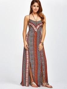 Sweetheart Cami Maxi Bohemian Dress - ORANGE RED S