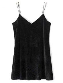Strapy Velvet Mini Dress
