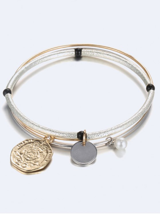 Layered Coin Bracelet - CHAMPAGNE  Mobile