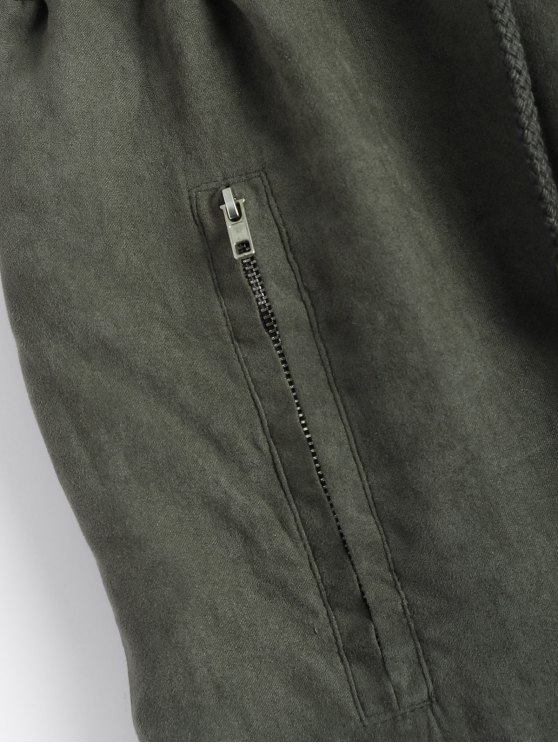 Suede Carrot JoggingPants - GREEN S Mobile