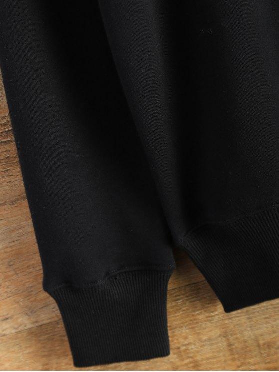 Pullover Crewneck Sweatshirt - BLACK M Mobile