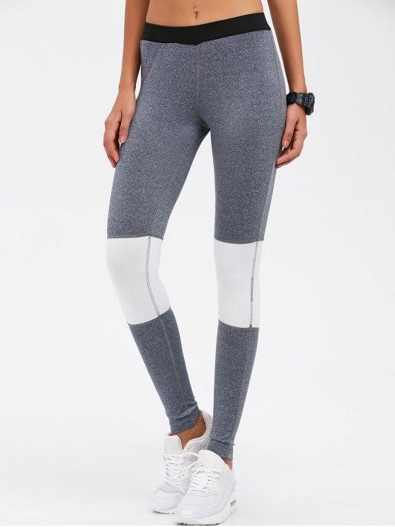 Leggings Yoga Bloque de color flacos - Gris M
