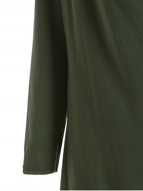 hot Tassels Side Button Cape - ARMY GREEN S Mobile