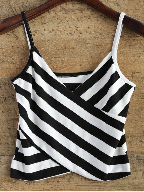 outfit Stripes V Neck Surplice Cami Top - STRIPE ONE SIZE Mobile