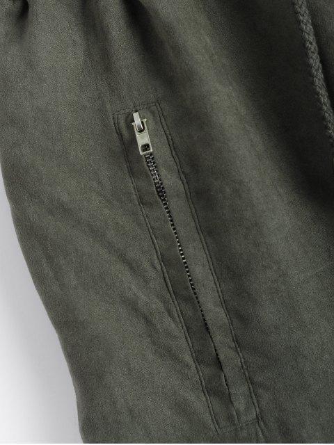 women's Suede Carrot JoggingPants - GREEN XL Mobile